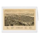 Catskill, NY Panoramic Map - 1889 Greeting Card