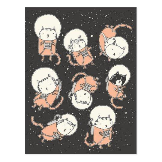Catstronauts Postcard