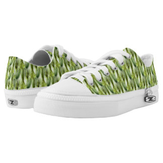 Cattail Fluff Nature Abstract Pattern Low Tops
