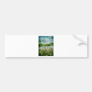 CATTAILS AND DRAGONFLIES.jpg Bumper Sticker