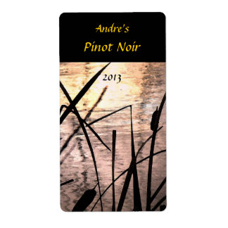 Cattails at Sunset Wine Label