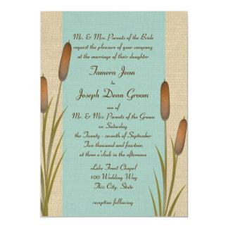 Cattails Lake Wedding Card