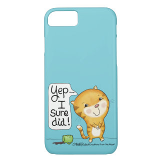 Cattitude- Cat Spills Coffee iPhone 8/7 Case