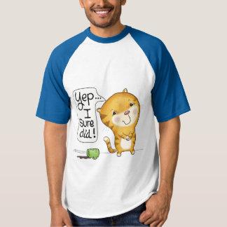 Cattitude- Cat Spills Coffee T-Shirt