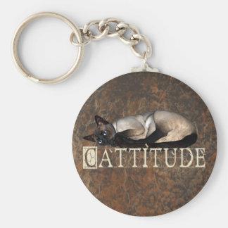 Cattitude Key Ring
