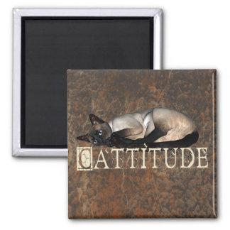 Cattitude Square Magnet