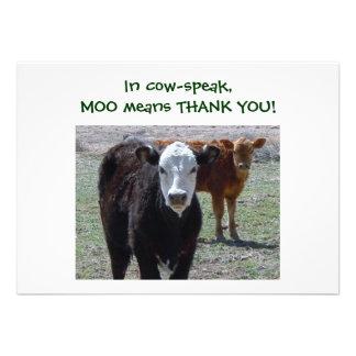 Cattle Calves - Western Thanks for Baby Gift Invites