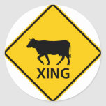 Cattle Crossing Highway Sign