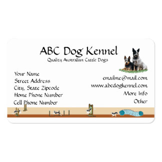 Cattle Dog Agility Business Card
