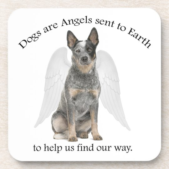 Cattle Dog Angel Coaster Set
