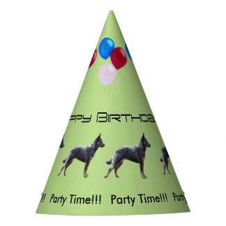 Cattle Dog Birthday Party Hat