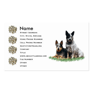 Cattle Dog Pair Pack Of Standard Business Cards
