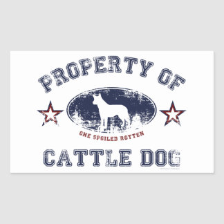 Cattle Dog Rectangular Sticker