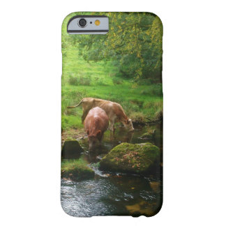 Cattle Golitha Falls River Fowey Cornwall England Barely There iPhone 6 Case