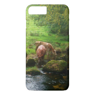 Cattle Golitha Falls River Fowey Cornwall England iPhone 8 Plus/7 Plus Case