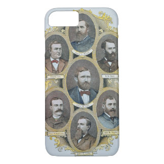 Cattle Kings of the American West, c.1880 (engravi iPhone 8/7 Case