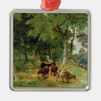Cattle on a Devonshire Lane Christmas Ornament