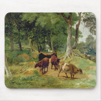 Cattle on a Devonshire Lane Mouse Mat