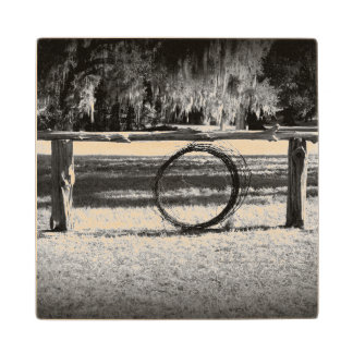 Cattle Ranch Maple Wood Coaster