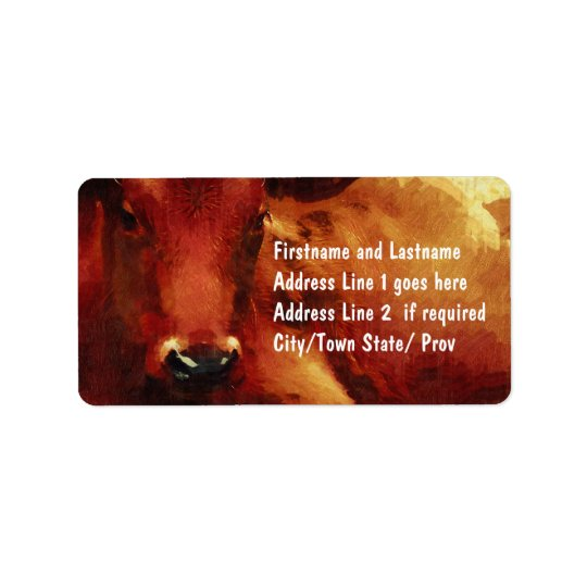 Cattle Rancher, Butcher or Beef Feedlot Address Label