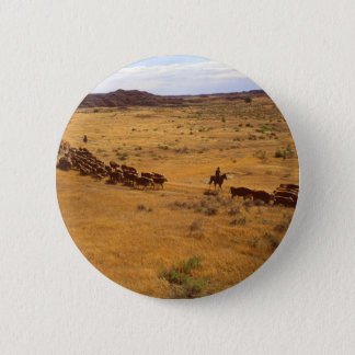 Cattle roundup 6 cm round badge