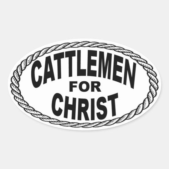 Cattlemen for Christ Euro Style Oval Sticker