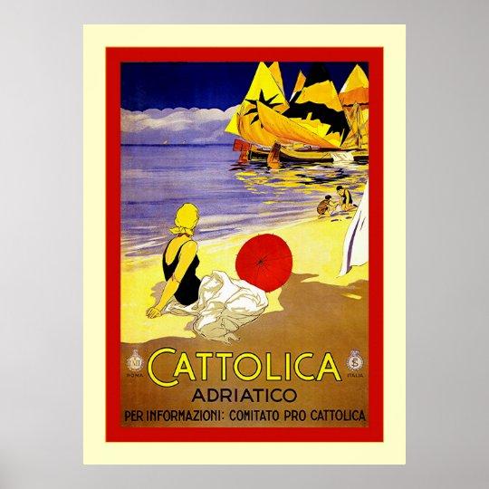 Cattolica Adriatico ~ Vintage Italian Travel Poster