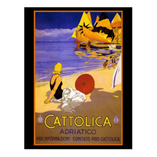 CATTOLICA ITALIAN RIVIERA TRAVEL POSTER POSTCARDS