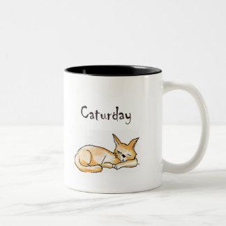 Caturday Cat Cartoon Mug