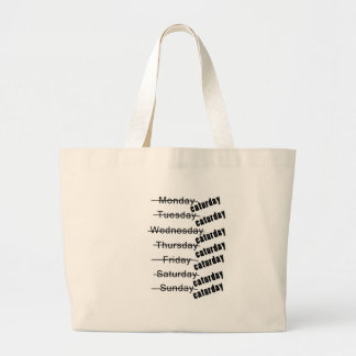 Caturday Everyday Funny Jumbo Tote Bag