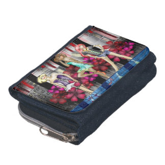 Catwalk Fashion Teenage Girls Funky Modern Art Wallet