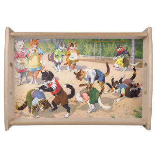 CATWALKS: A Wild Game of Leap Frog- Small Tray Serving Trays
