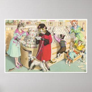 CATWALKS: Card Buying Chaos  Poster Art Semigloss