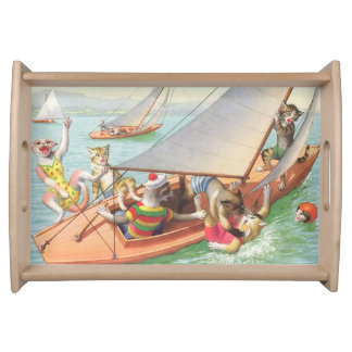 CATWALKS: Silly Sailing - Small Tray Serving Platter