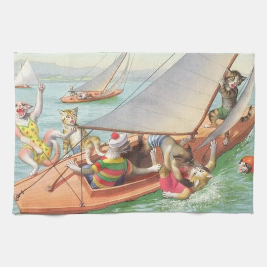 CATWALKS: Silly Sailing - Tea Towel