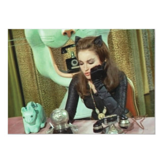 Catwoman 13 Cm X 18 Cm Invitation Card