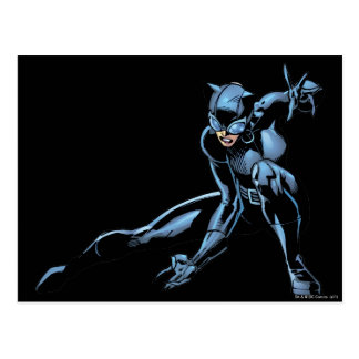 Catwoman crouches postcard