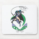 Catwoman & Logo Green Mouse Pad