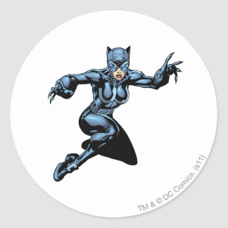 Catwoman with Claws Classic Round Sticker