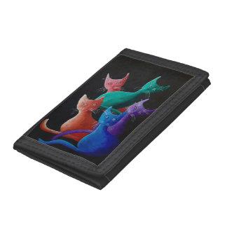 Catz Catz Catz Painting Tri-fold Wallets