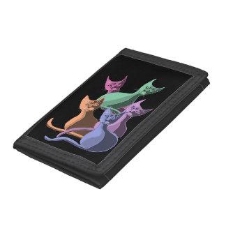 Catz Catz Catz - Pastel Trifold Wallet