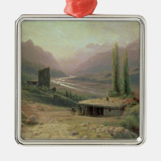 Caucasian Canyon, 1893 Christmas Ornament