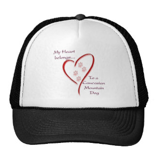Caucasian Mountain Dog Heart Belongs Cap