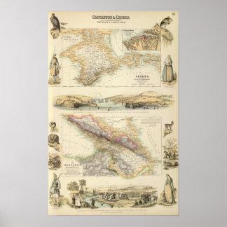 Caucausus and Crimea Poster
