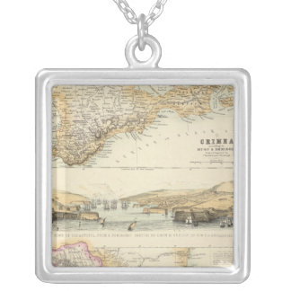 Caucausus and Crimea Silver Plated Necklace