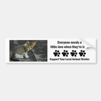 Caught-Animal Shelter Bumper Sticker