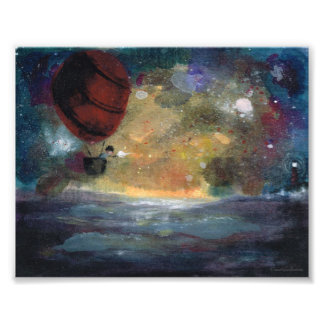 Caught in a Gust -illustrated art print Photograph