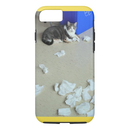 'Caught-in-the-Act' Kitty Photo Apple iPhone Case