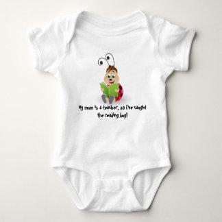 Caught the reading bug mom teacher's baby romper baby bodysuit