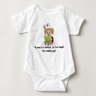 Caught the reading bug mum teacher's baby romper baby bodysuit